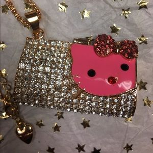 NIP Hello Kitty Purse Bag Rhinestone Necklace